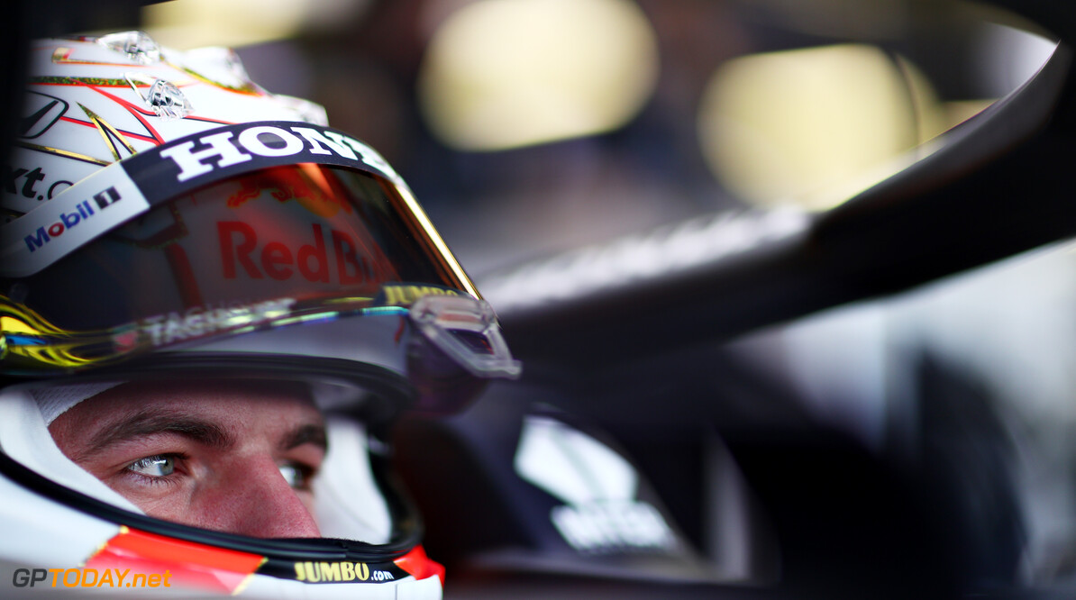 NORTHAMPTON, ENGLAND - FEBRUARY 24: Max Verstappen of Netherlands and Red Bull Racing prepares to drive in the garage during the Red Bull Racing Filming Day at Silverstone on February 24, 2021 in Northampton, England. (Photo by Dan Istitene/Getty Images for Red Bull Racing) // Getty Images / Red Bull Content Pool  // SI202102240127 // Usage for editorial use only //  Max Verstappen     SI202102240127