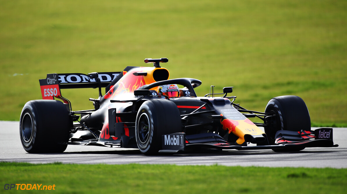 NORTHAMPTON, ENGLAND - FEBRUARY 24: Max Verstappen of Netherlands driving the Red Bull Racing RB15 Honda during the Red Bull Racing Filming Day at Silverstone on February 24, 2021 in Northampton, England. (Photo by Bryn Lennon/Getty Images for Red Bull Racing) // Getty Images / Red Bull Content Pool  // SI202102240202 // Usage for editorial use only //  Max Verstappen     SI202102240202