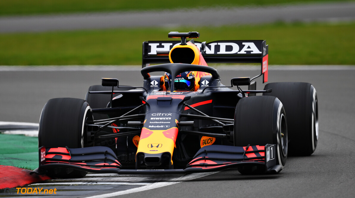NORTHAMPTON, ENGLAND - FEBRUARY 24: Alexander Albon of Thailand driving the Red Bull Racing RB15 Honda during the Red Bull Racing Filming Day at Silverstone on February 24, 2021 in Northampton, England. (Photo by Clive Mason/Getty Images for Red Bull Racing) // Getty Images / Red Bull Content Pool  // SI202102240162 // Usage for editorial use only //  Alexander Albon     SI202102240162