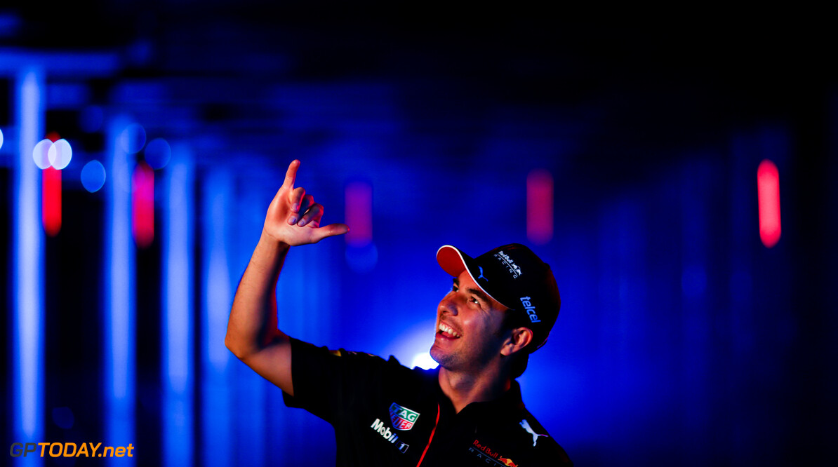 NORTHAMPTON, ENGLAND - FEBRUARY 24: Sergio Perez of Mexico and Red Bull Racing poses for a photo during the Red Bull Racing Filming Day at Silverstone on February 24, 2021 in Northampton, England. (Photo by Dan Istitene/Getty Images for Red Bull Racing) // Getty Images / Red Bull Content Pool  // SI202102240152 // Usage for editorial use only //  Sergio P?? 1/2 rez     SI202102240152