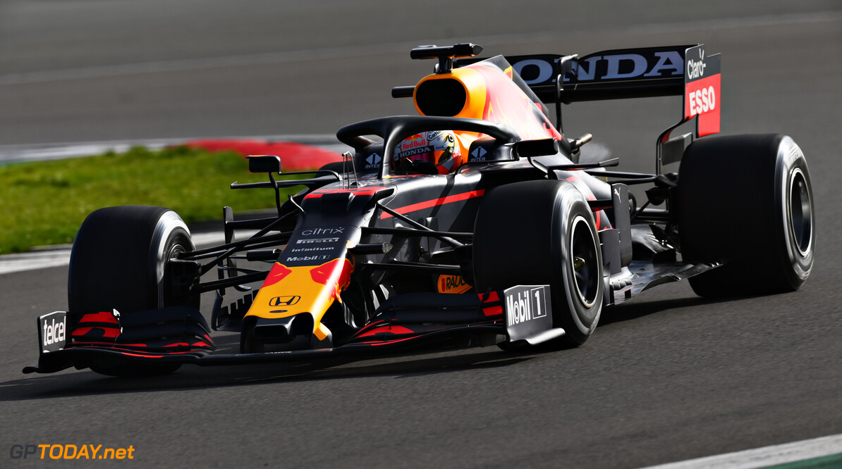 NORTHAMPTON, ENGLAND - FEBRUARY 24: Max Verstappen of Netherlands driving the Red Bull Racing RB15 Honda during the Red Bull Racing Filming Day at Silverstone on February 24, 2021 in Northampton, England. (Photo by Clive Mason/Getty Images for Red Bull Racing) // Getty Images / Red Bull Content Pool  // SI202102240195 // Usage for editorial use only //  Max Verstappen     SI202102240195