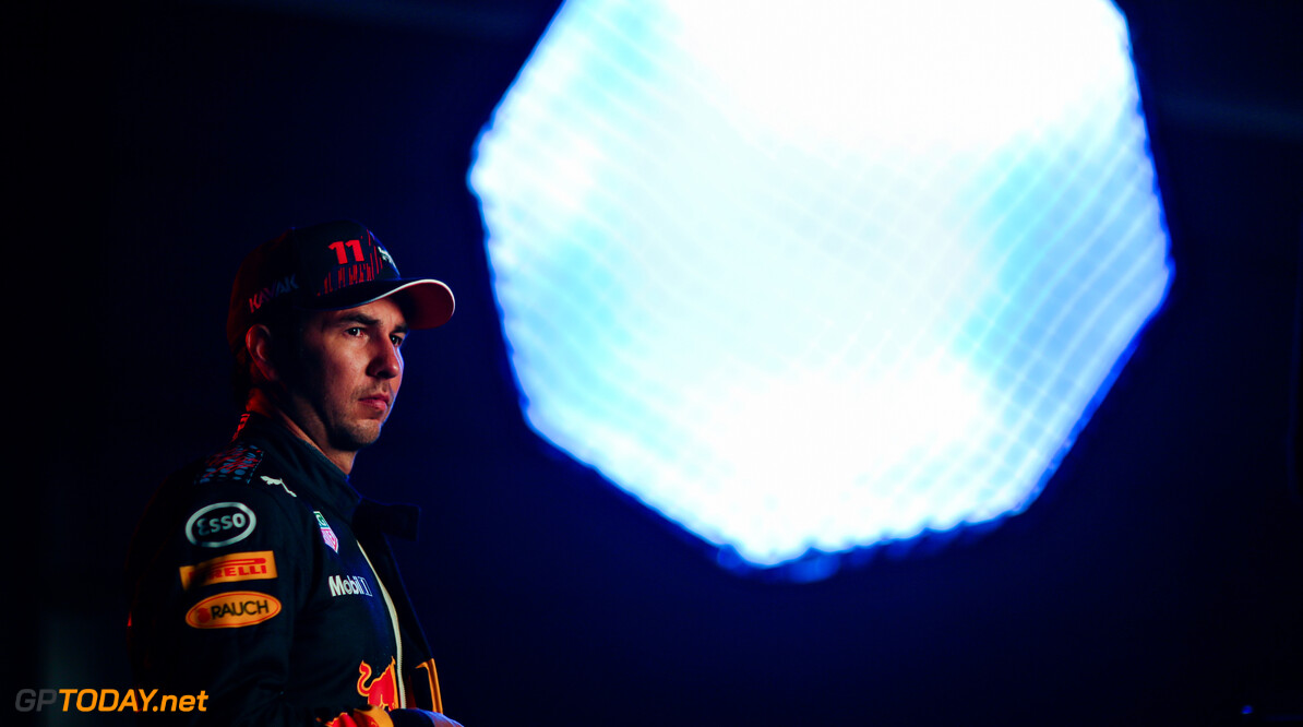 NORTHAMPTON, ENGLAND - FEBRUARY 24: Sergio Perez of Mexico and Red Bull Racing poses for a photo during the Red Bull Racing Filming Day at Silverstone on February 24, 2021 in Northampton, England. (Photo by Dan Istitene/Getty Images for Red Bull Racing) // Getty Images / Red Bull Content Pool  // SI202102240124 // Usage for editorial use only //  Sergio P?? 1/2 rez     SI202102240124