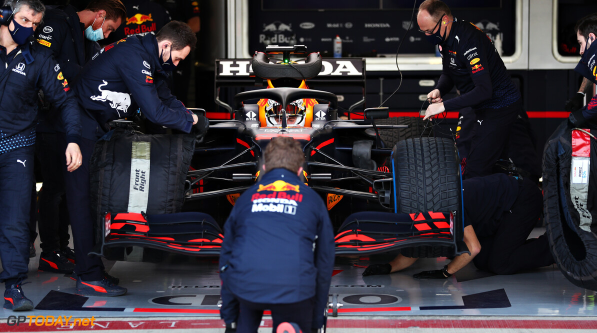 NORTHAMPTON, ENGLAND - FEBRUARY 24: Max Verstappen of Netherlands and Red Bull Racing prepares to drive in the garage during the Red Bull Racing Filming Day at Silverstone on February 24, 2021 in Northampton, England. (Photo by Dan Istitene/Getty Images for Red Bull Racing) // Getty Images / Red Bull Content Pool  // SI202102240130 // Usage for editorial use only //  Max Verstappen     SI202102240130