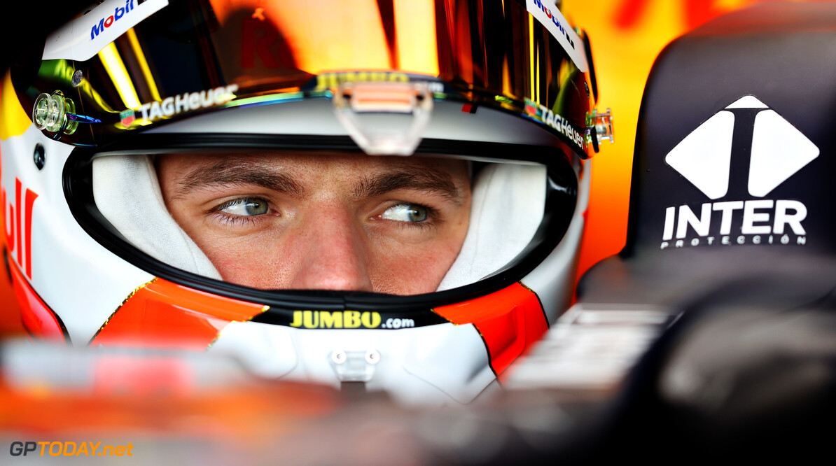 NORTHAMPTON, ENGLAND - FEBRUARY 24: Max Verstappen of Netherlands and Red Bull Racing prepares to drive in the garage during the Red Bull Racing Filming Day at Silverstone on February 24, 2021 in Northampton, England. (Photo by Mark Thompson/Getty Images for Red Bull Racing) // Getty Images / Red Bull Content Pool  // SI202102240191 // Usage for editorial use only //  Max Verstappen     SI202102240191