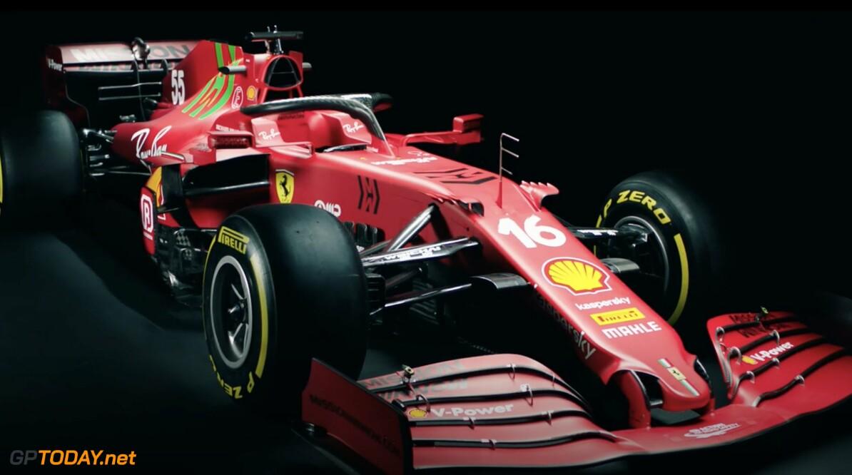 The livery of Ferrari SF21 for season 2021