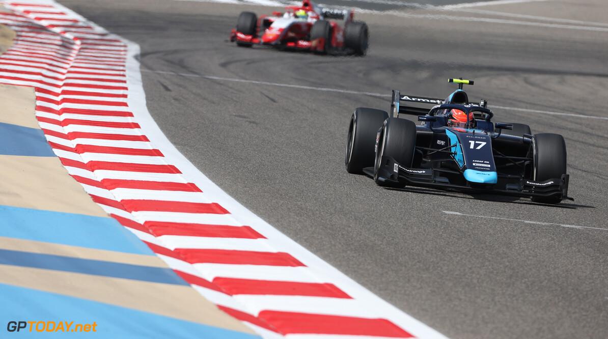 FIA Formula 2 Championship Marcus Armstrong (AUS), DAMS  26.03.2021. FIA Formula 2 Championship, Rd 1, Practice and Qualifying, Sakhir, Bahrain, Friday. - www.xpbimages.com, EMail: requests@xpbimages.com Copyright: XPB Images Motor Racing - FIA Formula 2 Championship - Friday - Sakhir, Bahrain xpbimages.com Sahkir Bahrain  Friday Bahrain International Circuit Bahrain Manama Sakhir Formula Two Formula 2 26 03 3 2021 March Action Track