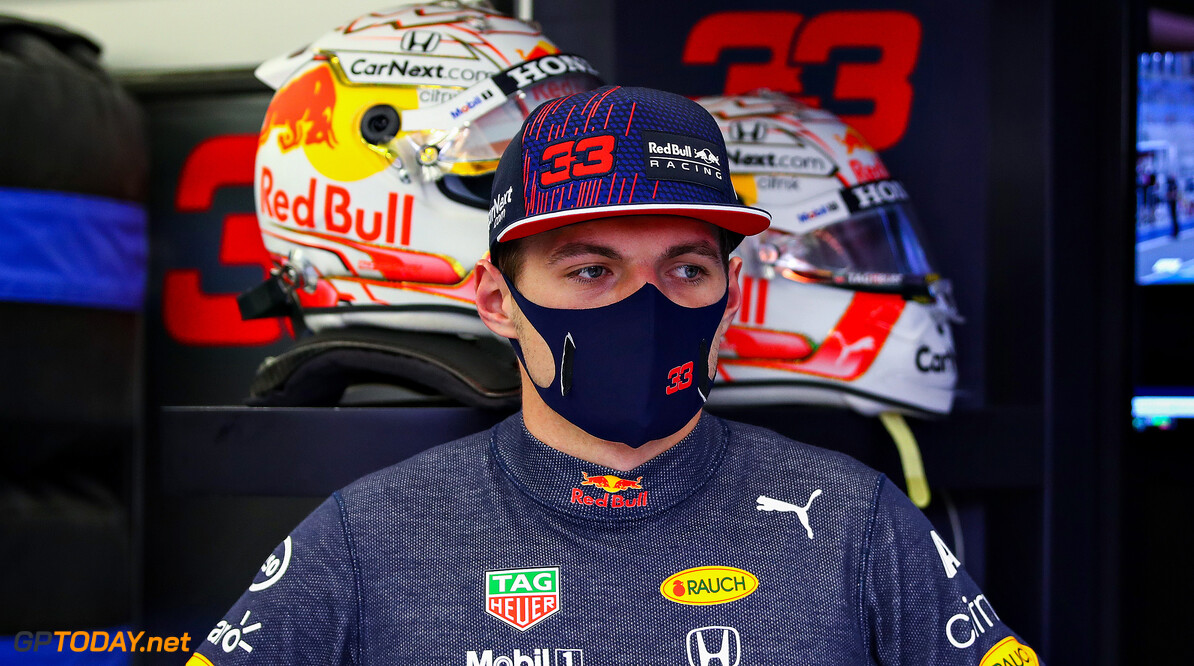 BAHRAIN, BAHRAIN - MARCH 27: Max Verstappen of Netherlands and Red Bull Racing looks on prior to qualifying ahead of the F1 Grand Prix of Bahrain at Bahrain International Circuit on March 27, 2021 in Bahrain, Bahrain. (Photo by Mark Thompson/Getty Images) // Getty Images / Red Bull Content Pool  // SI202103270292 // Usage for editorial use only //  F1 Grand Prix of Bahrain - Qualifying     SI202103270292