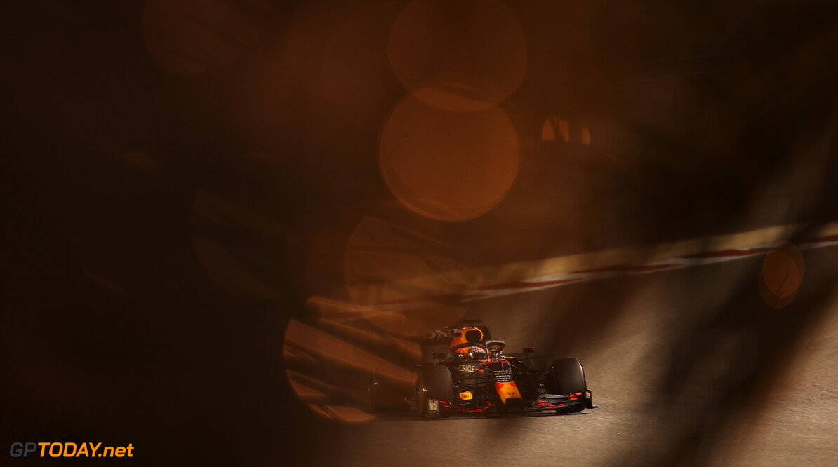 BAHRAIN, BAHRAIN - MARCH 27: Max Verstappen of the Netherlands driving the (33) Red Bull Racing RB16B Honda on track during qualifying ahead of the F1 Grand Prix of Bahrain at Bahrain International Circuit on March 27, 2021 in Bahrain, Bahrain. (Photo by Lars Baron/Getty Images) // Getty Images / Red Bull Content Pool  // SI202103270313 // Usage for editorial use only //  F1 Grand Prix of Bahrain - Qualifying     SI202103270313
