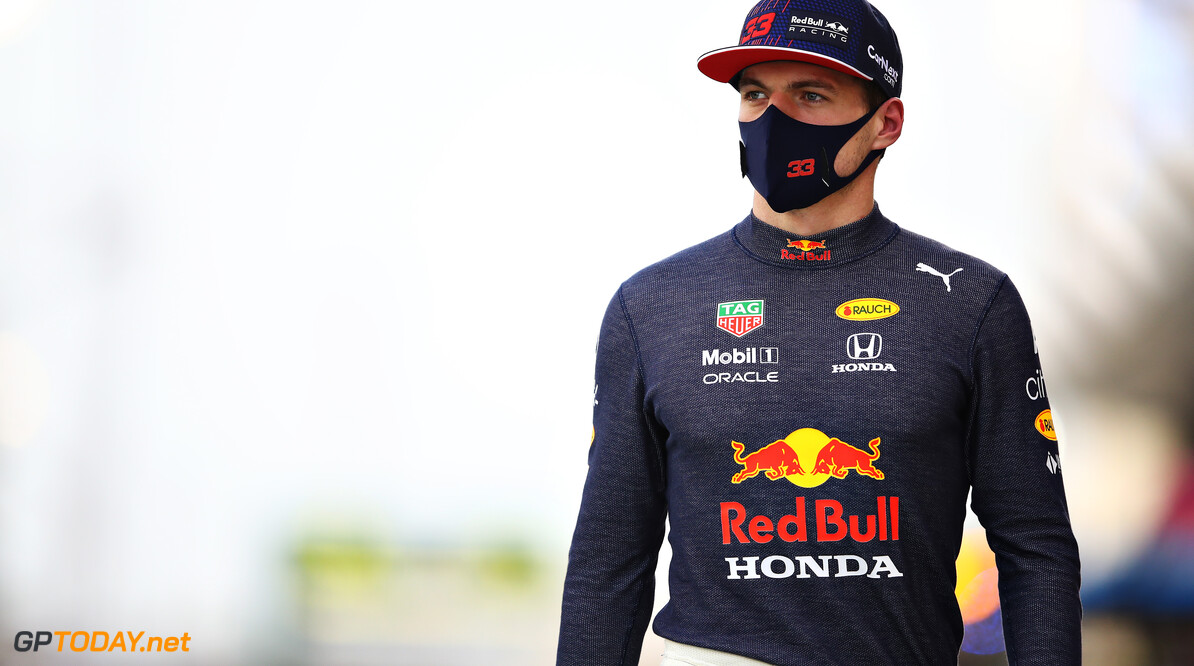 BAHRAIN, BAHRAIN - MARCH 28: Max Verstappen of Netherlands and Red Bull Racing walks to the grid prior to the F1 Grand Prix of Bahrain at Bahrain International Circuit on March 28, 2021 in Bahrain, Bahrain. (Photo by Mark Thompson/Getty Images) // Getty Images / Red Bull Content Pool  // SI202103280115 // Usage for editorial use only //  F1 Grand Prix of Bahrain     SI202103280115