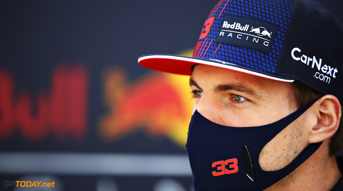 BAHRAIN, BAHRAIN - MARCH 28: Max Verstappen of Netherlands and Red Bull Racing looks on in the Paddock prior to during the F1 Grand Prix of Bahrain at Bahrain International Circuit on March 28, 2021 in Bahrain, Bahrain. (Photo by Mark Thompson/Getty Images) // Getty Images / Red Bull Content Pool  // SI202103280058 // Usage for editorial use only //  F1 Grand Prix of Bahrain     SI202103280058