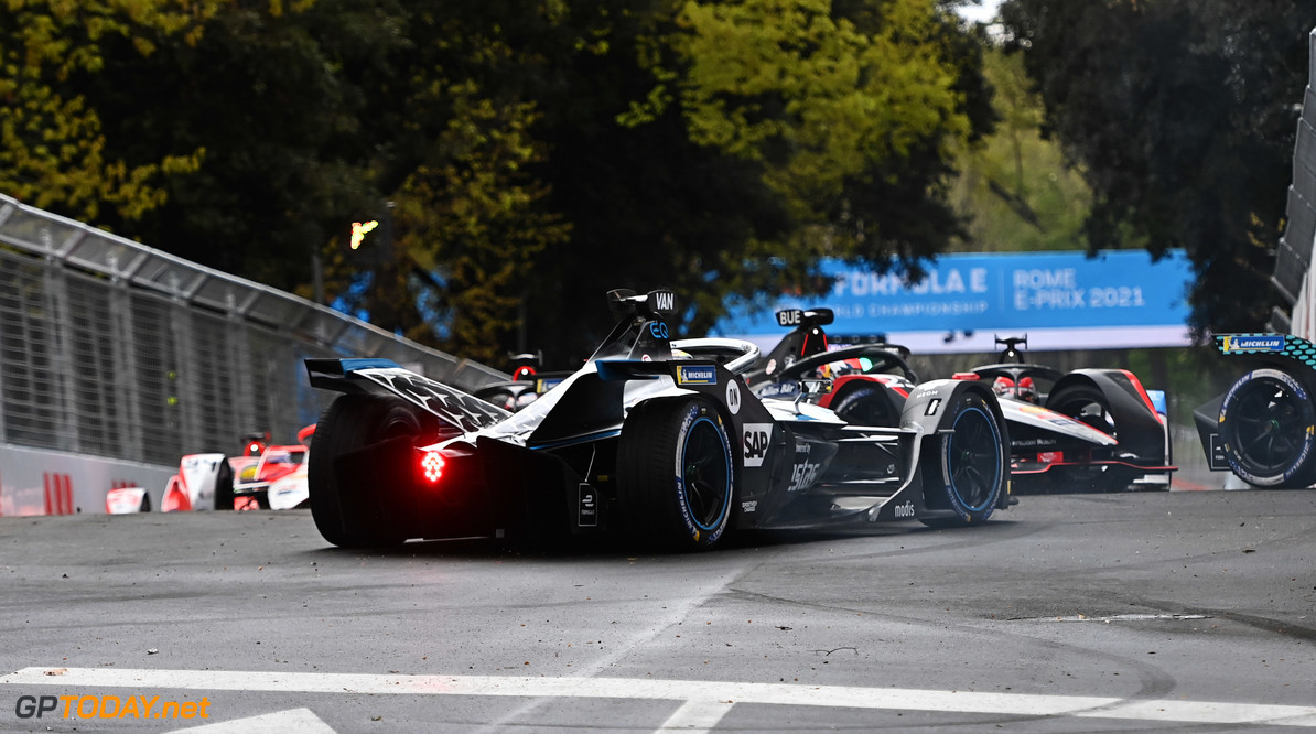 Stoffel Vandoorne (BEL), Mercedes Benz EQ, EQ Silver Arrow 02, recovers from an incident  Simon Galloway Rome Italy  rear action