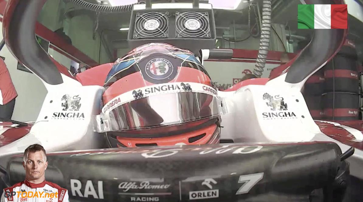 <b>Video:</b> HAHA! Kimi Raikkonen valt in slaap tijdens rode vlag VT3