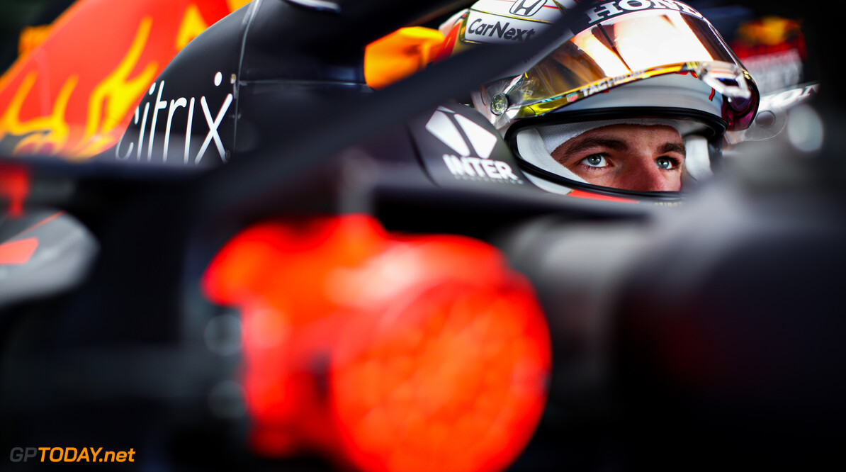 IMOLA, ITALY - APRIL 17: Max Verstappen of Netherlands and Red Bull Racing prepares to drive in the garage during final practice ahead of the F1 Grand Prix of Emilia Romagna at Autodromo Enzo e Dino Ferrari on April 17, 2021 in Imola, Italy. (Photo by Mark Thompson/Getty Images) a??*** BESTPIX *** // Getty Images / Red Bull Content Pool  // SI202104170427 // Usage for editorial use only //  a??*** BESTPIX *** F1 Grand Prix of Emilia Romagna - Final Practice     SI202104170427