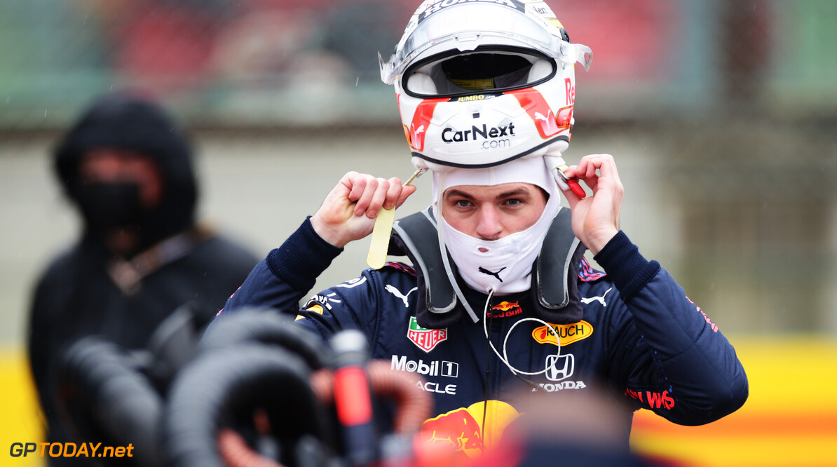 IMOLA, ITALY - APRIL 18: Max Verstappen of Netherlands and Red Bull Racing prepares to drive on the grid prior to the F1 Grand Prix of Emilia Romagna at Autodromo Enzo e Dino Ferrari on April 18, 2021 in Imola, Italy. (Photo by Peter Fox/Getty Images) // Getty Images / Red Bull Content Pool  // SI202104180162 // Usage for editorial use only //  F1 Grand Prix of Emilia Romagna     SI202104180162