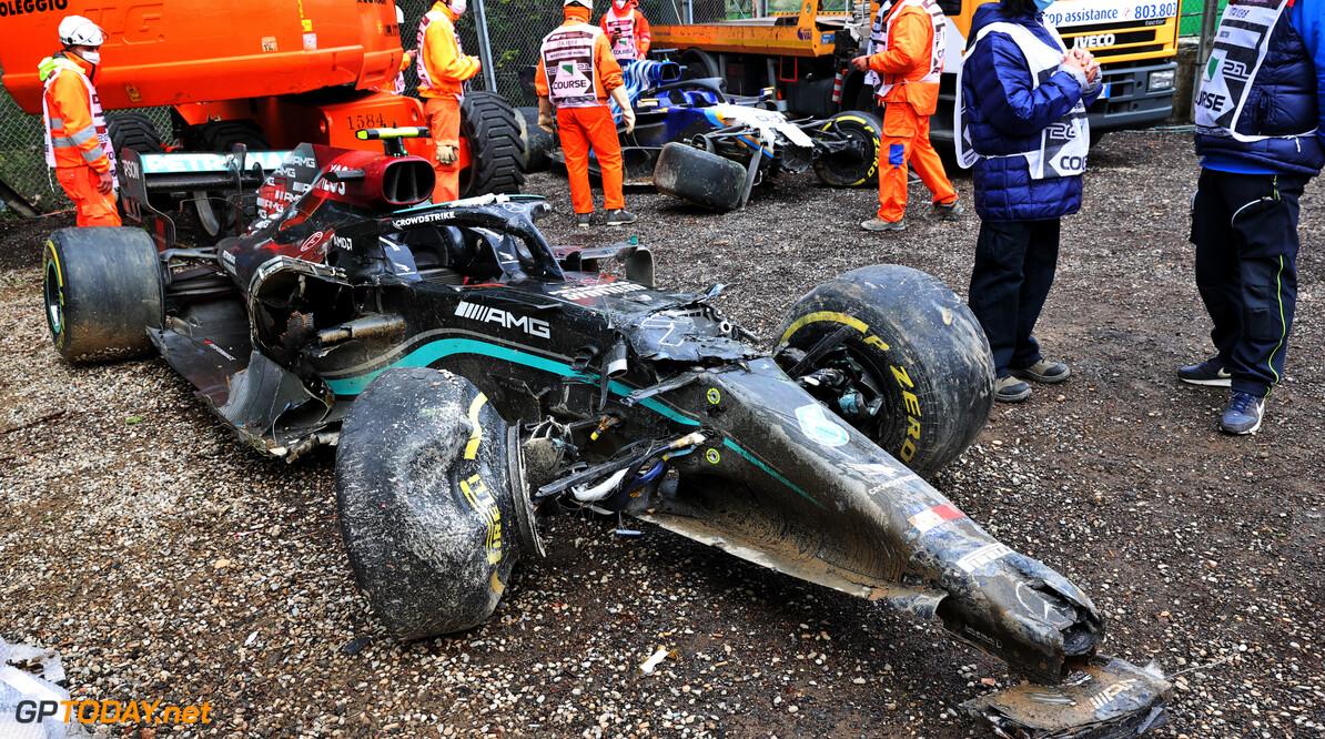 Krachtbron uit Bottas zijn W12 heeft crash Imola overleefd, kan nog gebruikt worden