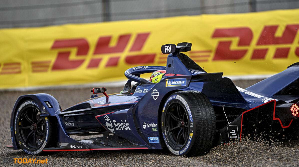 Robin Frijns (NLD), Envision Virgin Racing, Audi e-tron FE07 in the gravel  Simon Galloway Valencia Spain  action TS-Live Sunday Envision