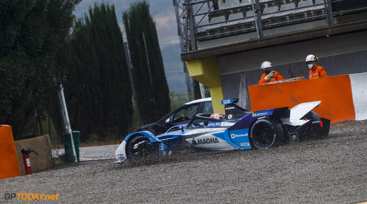 Maximilian Guenther (DEU), BMW I Andretti Motorsports, BMW iFE.21, in the gravel  Alastair Staley Valencia Spain  Action TS-Live Saturday BMW