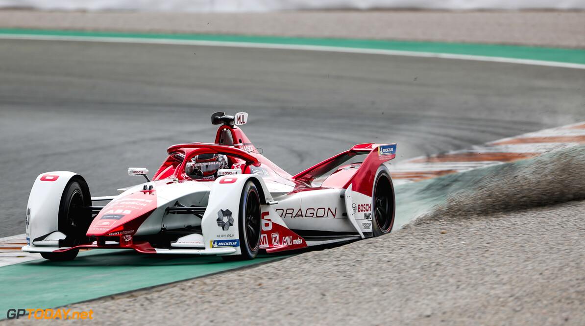 Nico Muller (CHE), Dragon Penske Autosport, Penske EV-5, kicks up some gravel  Sam Bloxham Valencia Spain  Action TS-Live Saturday Dragon