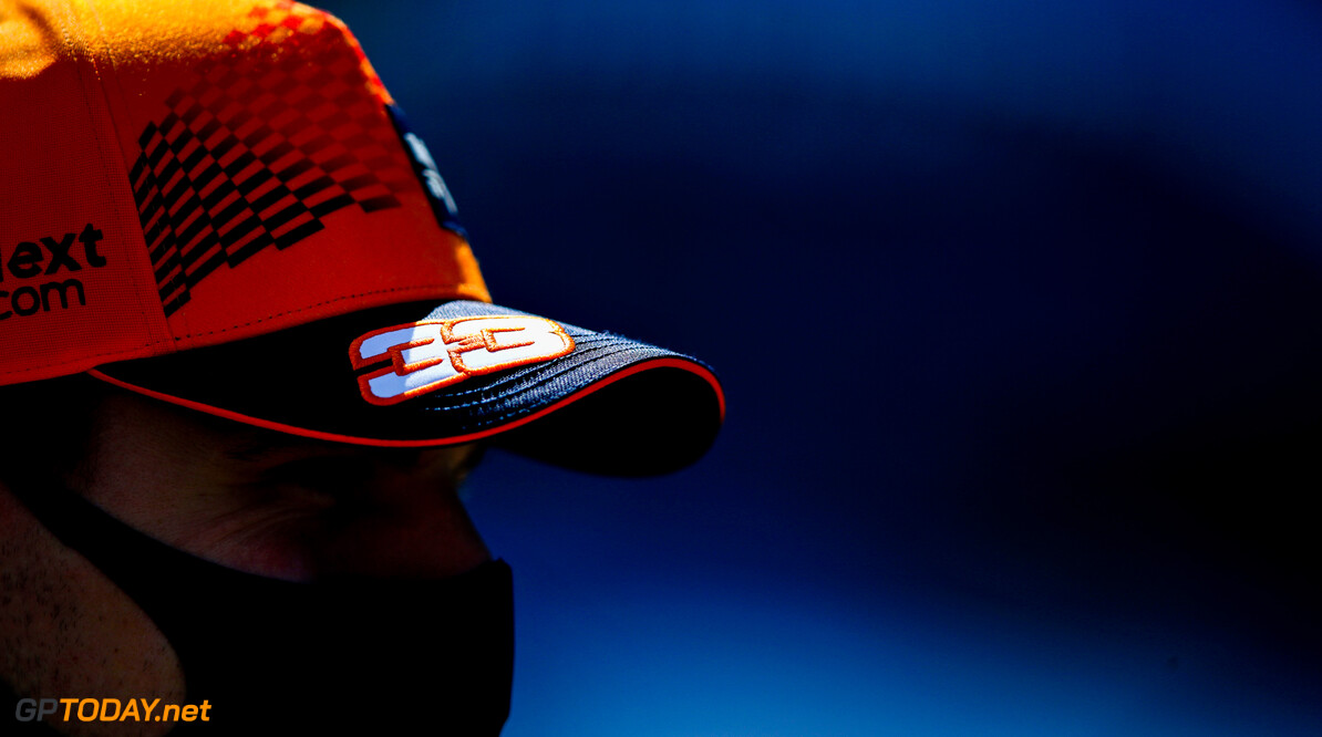PORTIMAO, PORTUGAL - APRIL 29: A detail shot of the cap of Max Verstappen of Netherlands and Red Bull Racing during previews ahead of the F1 Grand Prix of Portugal at Autodromo Internacional Do Algarve on April 29, 2021 in Portimao, Portugal. (Photo by Mark Thompson/Getty Images) // Getty Images / Red Bull Content Pool  // SI202104290419 // Usage for editorial use only //  F1 Grand Prix of Portugal - Previews     SI202104290419