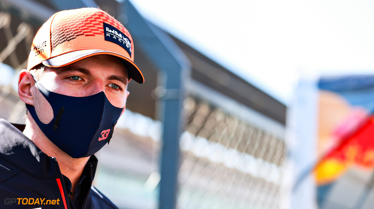 PORTIMAO, PORTUGAL - APRIL 29: Max Verstappen of Netherlands and Red Bull Racing looks on in the Paddock during previews ahead of the F1 Grand Prix of Portugal at Autodromo Internacional Do Algarve on April 29, 2021 in Portimao, Portugal. (Photo by Mark Thompson/Getty Images) // Getty Images / Red Bull Content Pool  // SI202104290409 // Usage for editorial use only //  F1 Grand Prix of Portugal - Previews     SI202104290409