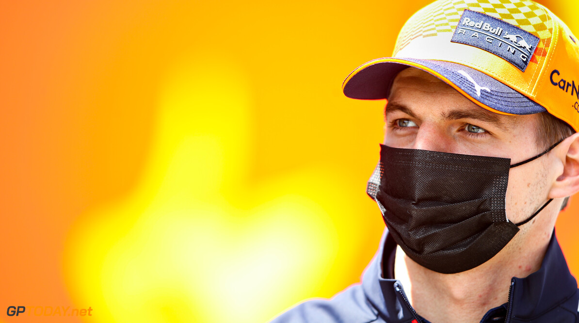 PORTIMAO, PORTUGAL - APRIL 29: Max Verstappen of Netherlands and Red Bull Racing looks on in the Paddock during previews ahead of the F1 Grand Prix of Portugal at Autodromo Internacional Do Algarve on April 29, 2021 in Portimao, Portugal. (Photo by Mark Thompson/Getty Imagesit // Getty Images / Red Bull Content Pool  // SI202104290244 // Usage for editorial use only //  F1 Grand Prix of Portugal - Previews     SI202104290244