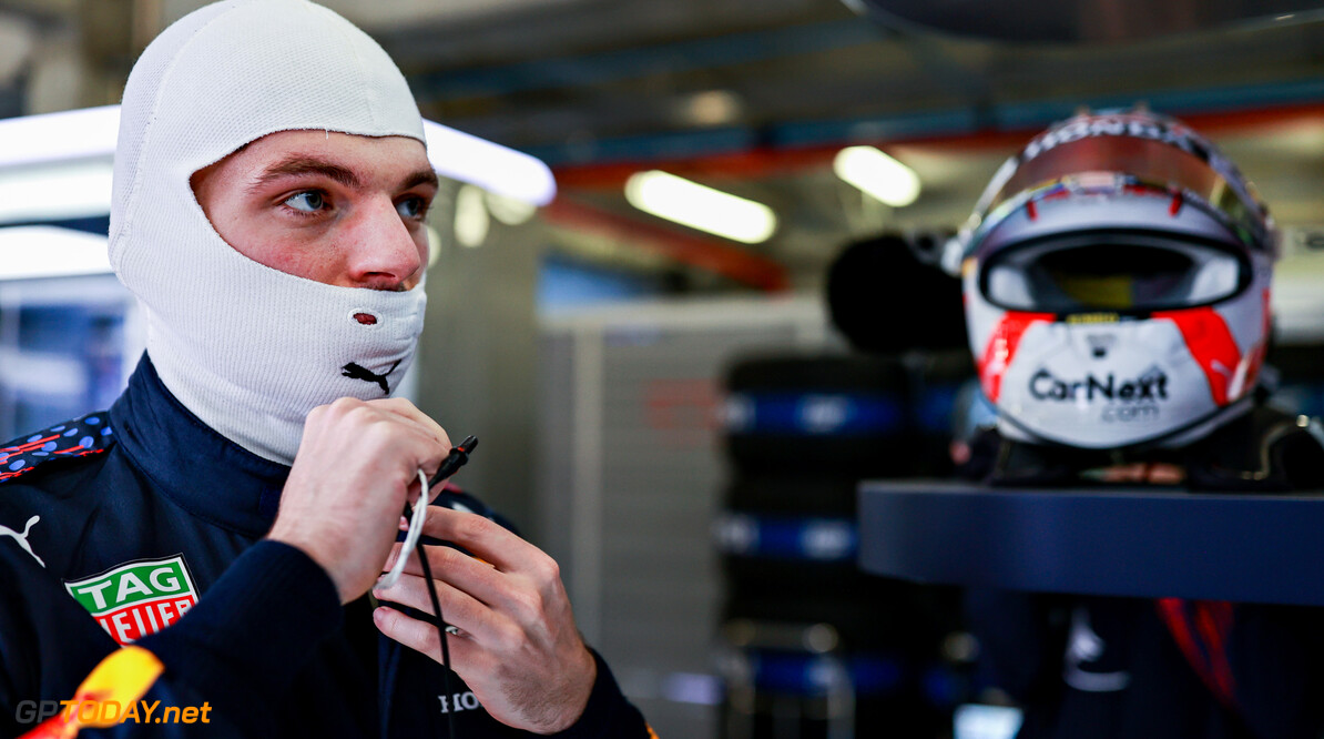 PORTIMAO, PORTUGAL - APRIL 30: Max Verstappen of Netherlands and Red Bull Racing prepares to drive in the garage during practice ahead of the F1 Grand Prix of Portugal at Autodromo Internacional Do Algarve on April 30, 2021 in Portimao, Portugal. (Photo by Mark Thompson/Getty Images) // Getty Images / Red Bull Content Pool  // SI202104300936 // Usage for editorial use only //  F1 Grand Prix of Portugal - Practice     SI202104300936