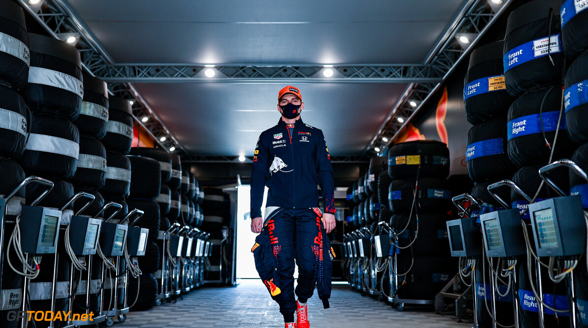 PORTIMAO, PORTUGAL - APRIL 30: Max Verstappen of Netherlands and Red Bull Racing walks to the garage during practice ahead of the F1 Grand Prix of Portugal at Autodromo Internacional Do Algarve on April 30, 2021 in Portimao, Portugal. (Photo by Mark Thompson/Getty Images) *** BESTPIX *** // Getty Images / Red Bull Content Pool  // SI202104301077 // Usage for editorial use only //  *** BESTPIX *** F1 Grand Prix of Portugal - Practice     SI202104301077