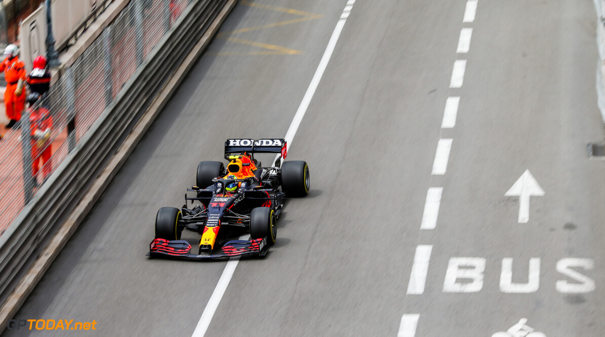 MONTE-CARLO, MONACO - MAY 22: Sergio Perez of Mexico and Red Bull Racing  during practice/qualifying ahead of the F1 Grand Prix of Monaco at Circuit de Monaco on May 22, 2021 in Monte-Carlo, Monaco. (Photo by Peter Fox/Getty Images) // Getty Images / Red Bull Content Pool  // SI202105220194 // Usage for editorial use only //  F1 Grand Prix of Monaco - Practice & Qualifying     SI202105220194