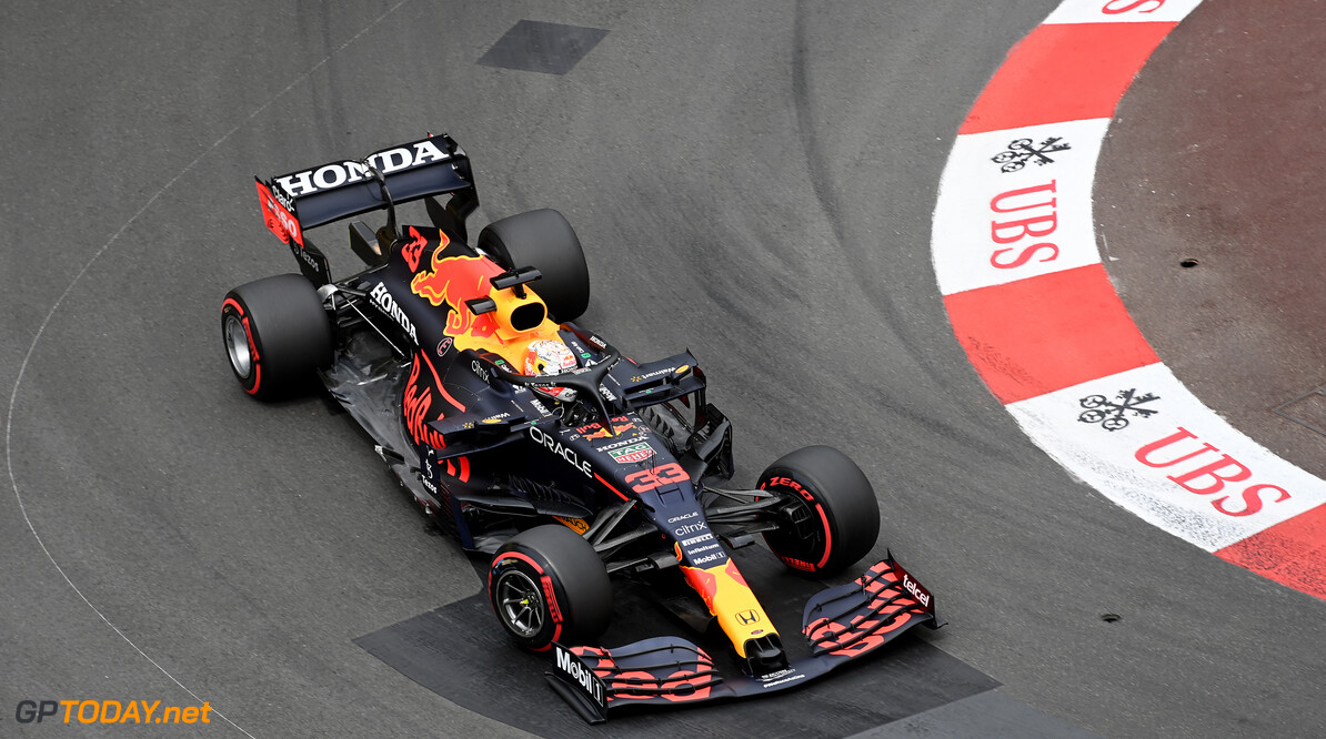 MONTE-CARLO, MONACO - MAY 22: Max Verstappen of the Netherlands driving the (33) Red Bull Racing RB16B Honda on track during final practice for the F1 Grand Prix of Monaco at Circuit de Monaco on May 22, 2021 in Monte-Carlo, Monaco. (Photo by Sam Bagnall/Getty Images) // Getty Images / Red Bull Content Pool  // SI202105220416 // Usage for editorial use only //  F1 Grand Prix of Monaco - Practice & Qualifying     SI202105220416