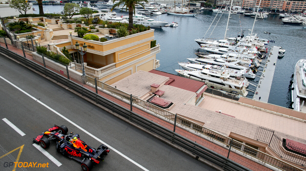 MONTE-CARLO, MONACO - MAY 22: Sergio Perez of Mexico and Red Bull Racing  during practice/qualifying ahead of the F1 Grand Prix of Monaco at Circuit de Monaco on May 22, 2021 in Monte-Carlo, Monaco. (Photo by Peter Fox/Getty Images) // Getty Images / Red Bull Content Pool  // SI202105220195 // Usage for editorial use only //  F1 Grand Prix of Monaco - Practice & Qualifying     SI202105220195
