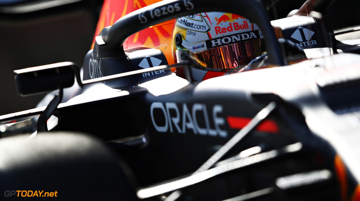 BAKU, AZERBAIJAN - JUNE 04: Max Verstappen of the Netherlands driving the (33) Red Bull Racing RB16B Honda leaves the garage during practice ahead of the F1 Grand Prix of Azerbaijan at Baku City Circuit on June 04, 2021 in Baku, Azerbaijan. (Photo by Mark Thompson/Getty Images) // Getty Images / Red Bull Content Pool  // SI202106040393 // Usage for editorial use only //  F1 Grand Prix of Azerbaijan - Practice     SI202106040393