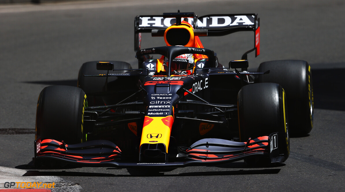 BAKU, AZERBAIJAN - JUNE 04: Max Verstappen of the Netherlands driving the (33) Red Bull Racing RB16B Honda on track during practice ahead of the F1 Grand Prix of Azerbaijan at Baku City Circuit on June 04, 2021 in Baku, Azerbaijan. (Photo by Francois Nel/Getty Images) // Getty Images / Red Bull Content Pool  // SI202106040134 // Usage for editorial use only //  F1 Grand Prix of Azerbaijan - Practice     SI202106040134