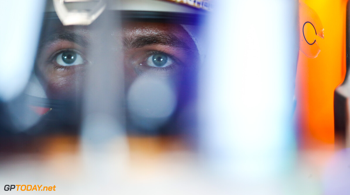BAKU, AZERBAIJAN - JUNE 04: Max Verstappen of Netherlands and Red Bull Racing looks on in the garage during practice ahead of the F1 Grand Prix of Azerbaijan at Baku City Circuit on June 04, 2021 in Baku, Azerbaijan. (Photo by Mark Thompson/Getty Images) // Getty Images / Red Bull Content Pool  // SI202106040307 // Usage for editorial use only //  F1 Grand Prix of Azerbaijan - Practice     SI202106040307