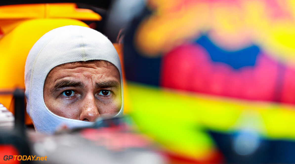 BAKU, AZERBAIJAN - JUNE 04: Sergio Perez of Mexico and Red Bull Racing prepares to drive in the garage during practice ahead of the F1 Grand Prix of Azerbaijan at Baku City Circuit on June 04, 2021 in Baku, Azerbaijan. (Photo by Mark Thompson/Getty Images) // Getty Images / Red Bull Content Pool  // SI202106040281 // Usage for editorial use only //  F1 Grand Prix of Azerbaijan - Practice     SI202106040281