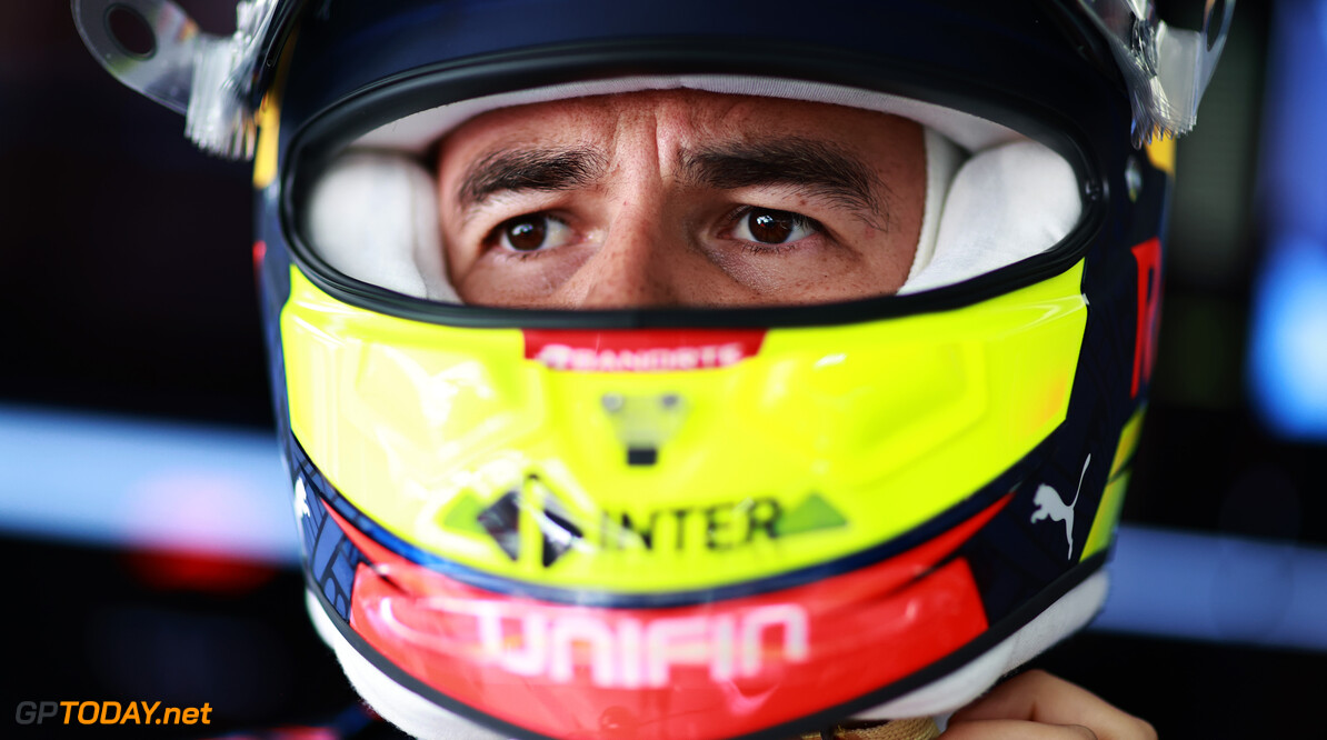 LE CASTELLET, FRANCE - JUNE 18: Sergio Perez of Mexico and Red Bull Racing prepares to drive in the garage during practice ahead of the F1 Grand Prix of France at Circuit Paul Ricard on June 18, 2021 in Le Castellet, France. (Photo by Mark Thompson/Getty Images) // Getty Images / Red Bull Content Pool  // SI202106180323 // Usage for editorial use only //  F1 Grand Prix of France - Practice     SI202106180323