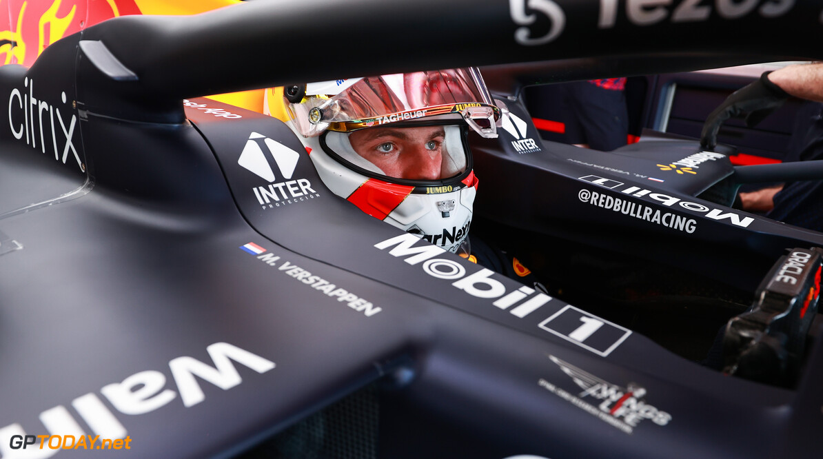 LE CASTELLET, FRANCE - JUNE 18: Max Verstappen of Netherlands and Red Bull Racing prepares to drive in the garage during practice ahead of the F1 Grand Prix of France at Circuit Paul Ricard on June 18, 2021 in Le Castellet, France. (Photo by Mark Thompson/Getty Images) // Getty Images / Red Bull Content Pool  // SI202106180595 // Usage for editorial use only //  F1 Grand Prix of France - Practice     SI202106180595