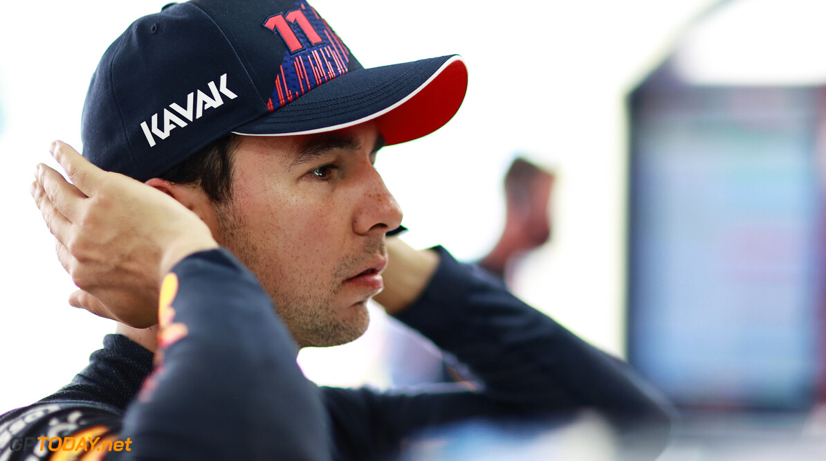 LE CASTELLET, FRANCE - JUNE 18: Sergio Perez of Mexico and Red Bull Racing prepares to drive in the garage during practice ahead of the F1 Grand Prix of France at Circuit Paul Ricard on June 18, 2021 in Le Castellet, France. (Photo by Mark Thompson/Getty Images) // Getty Images / Red Bull Content Pool  // SI202106180292 // Usage for editorial use only //  F1 Grand Prix of France - Practice     SI202106180292