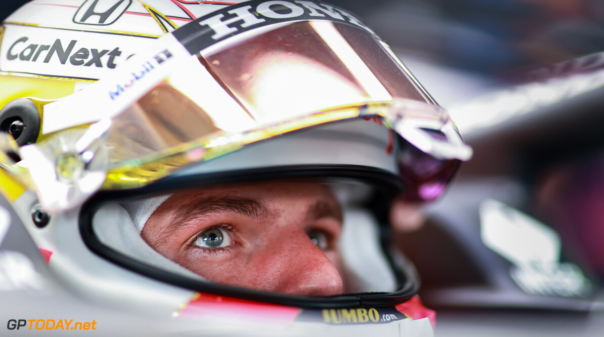 LE CASTELLET, FRANCE - JUNE 18: Max Verstappen of Netherlands and Red Bull Racing prepares to drive in the garage during practice ahead of the F1 Grand Prix of France at Circuit Paul Ricard on June 18, 2021 in Le Castellet, France. (Photo by Mark Thompson/Getty Images) // Getty Images / Red Bull Content Pool  // SI202106180293 // Usage for editorial use only //  F1 Grand Prix of France - Practice     SI202106180293