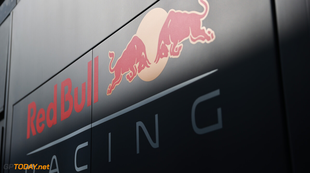 LE CASTELLET, FRANCE - JUNE 18: A general view of the Red Bull Racing logo on a truck in the Paddock prior to practice ahead of the F1 Grand Prix of France at Circuit Paul Ricard on June 18, 2021 in Le Castellet, France. (Photo by Mark Thompson/Getty Images) // Getty Images / Red Bull Content Pool  // SI202106180108 // Usage for editorial use only //  F1 Grand Prix of France - Practice     SI202106180108