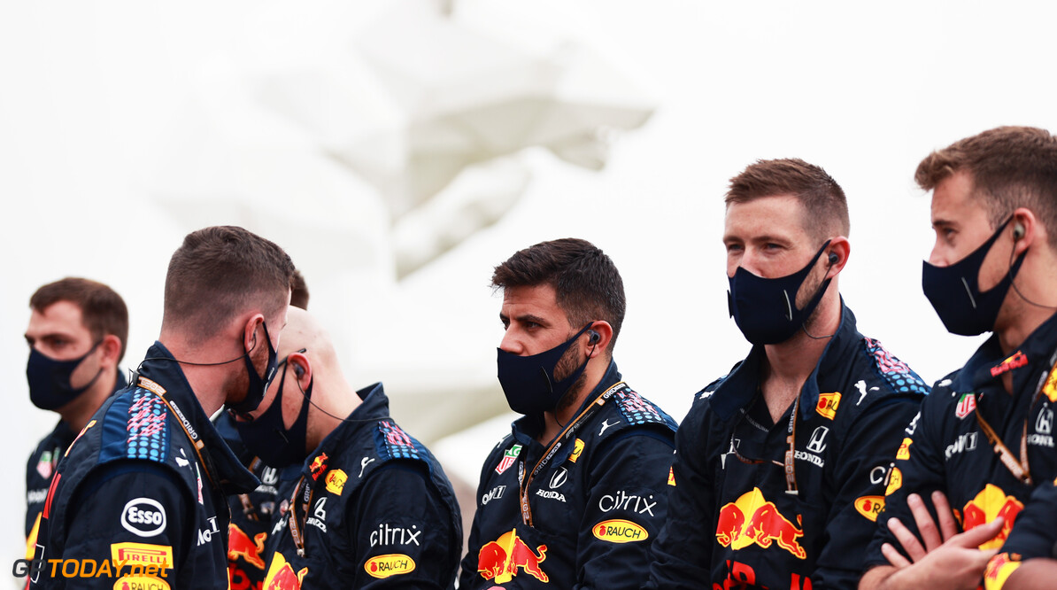 LE CASTELLET, FRANCE - JUNE 20: Red Bull Racing team members look on prior to the F1 Grand Prix of France at Circuit Paul Ricard on June 20, 2021 in Le Castellet, France. (Photo by Mark Thompson/Getty Images) // Getty Images / Red Bull Content Pool  // SI202106200202 // Usage for editorial use only //  F1 Grand Prix of France     SI202106200202