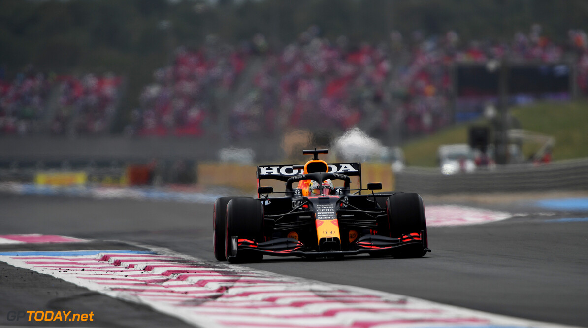 LE CASTELLET, FRANCE - JUNE 20: Max Verstappen of the Netherlands driving the (33) Red Bull Racing RB16B Honda on his way to the grid prior to the F1 Grand Prix of France at Circuit Paul Ricard on June 20, 2021 in Le Castellet, France. (Photo by Rudy Carezzevoli/Getty Images) // Getty Images / Red Bull Content Pool  // SI202106200207 // Usage for editorial use only //  F1 Grand Prix of France     SI202106200207