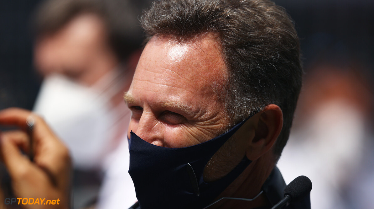 SPIELBERG, AUSTRIA - JUNE 27: Red Bull Racing Team Principal Christian Horner looks on from the grid ahead of the F1 Grand Prix of Styria at Red Bull Ring on June 27, 2021 in Spielberg, Austria. (Photo by Bryn Lennon/Getty Images) // Getty Images / Red Bull Content Pool  // SI202106270182 // Usage for editorial use only //  F1 Grand Prix of Styria     SI202106270182