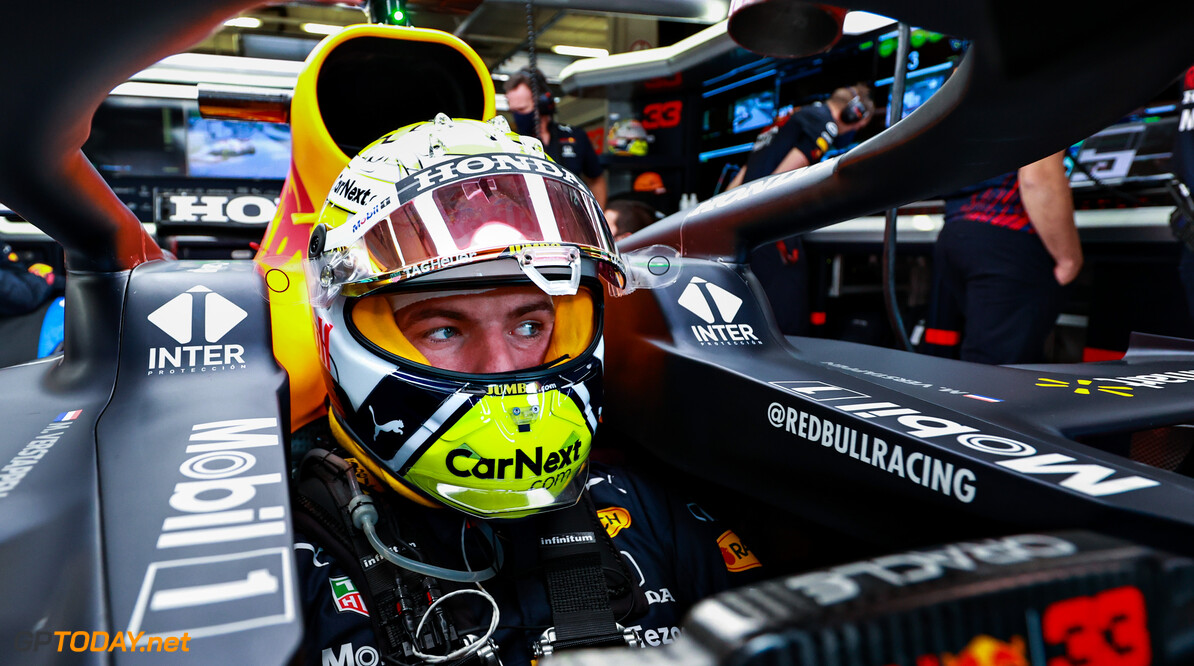 SPIELBERG, AUSTRIA - JUNE 27: Max Verstappen of Netherlands and Red Bull Racing prepares to drive in the garage ahead of the F1 Grand Prix of Styria at Red Bull Ring on June 27, 2021 in Spielberg, Austria. (Photo by Mark Thompson/Getty Images) // Getty Images / Red Bull Content Pool  // SI202106270169 // Usage for editorial use only //  F1 Grand Prix of Styria     SI202106270169