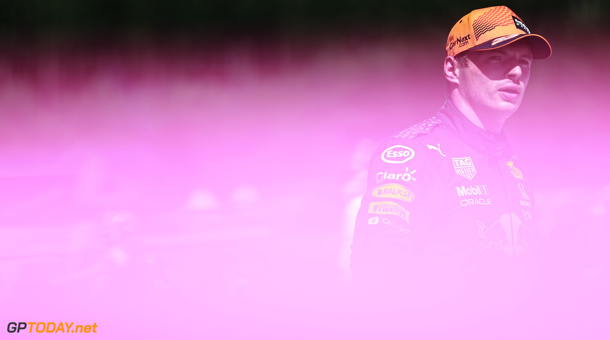 SPIELBERG, AUSTRIA - JUNE 26: Pole position qualifier Max Verstappen of Netherlands and Red Bull Racing looks on in parc ferme during qualifying ahead of the F1 Grand Prix of Styria at Red Bull Ring on June 26, 2021 in Spielberg, Austria. (Photo by Mark Thompson/Getty Images) // Getty Images / Red Bull Content Pool  // SI202106260321 // Usage for editorial use only //  F1 Grand Prix of Styria - Qualifying     SI202106260321