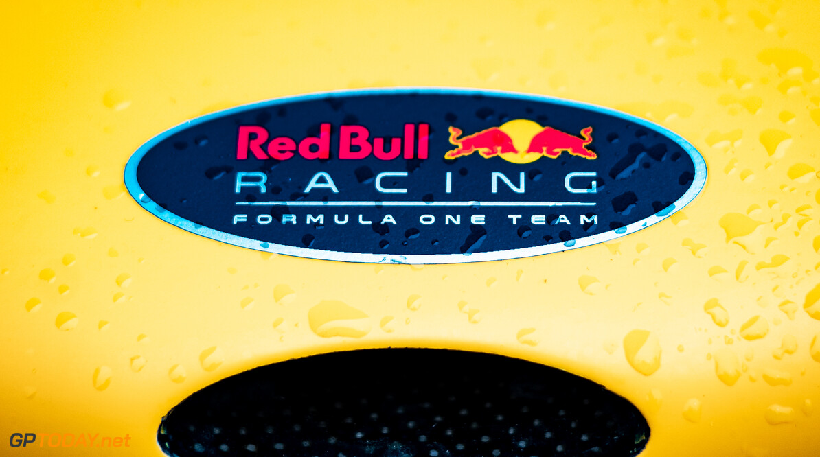 CHICHESTER, ENGLAND - JULY 10: A Red Bull Racing nose detail during the Goodwood Festival of Speed at Goodwood on July 10, 2021 in Chichester, England. (Photo by James Bearne/Getty Images) // SI202107100135 // Usage for editorial use only //  Goodwood Festival of Speed 2021     SI202107100135