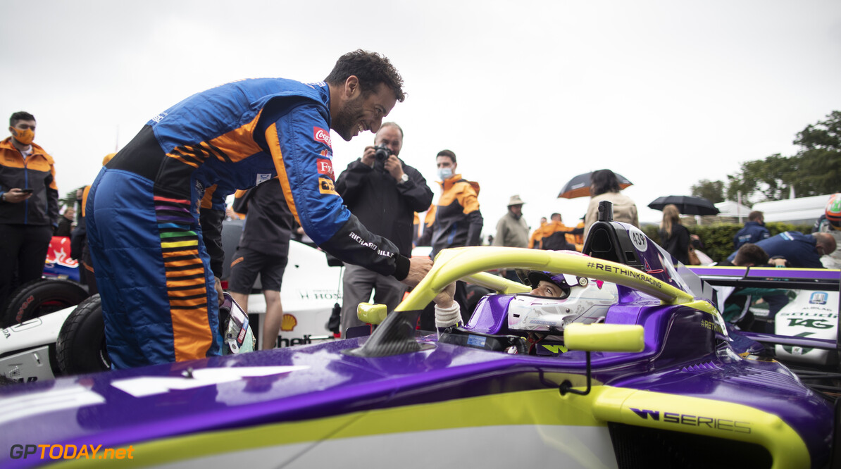 2021 Goodwood Festival of Speed Goodwood, England 8th - 11th July 2021  Photo: Drew Gibson      2021 Assembly Area Batch 4 Daniel Ricciardo Drew Gibson Festival of Speed FoS FoS2021 Saturday Highlights W Series