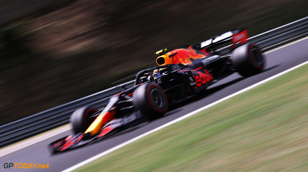 BUDAPEST, HUNGARY - JULY 31: Sergio Perez of Mexico driving the (11) Red Bull Racing RB16B Honda during final practice ahead of the F1 Grand Prix of Hungary at Hungaroring on July 31, 2021 in Budapest, Hungary. (Photo by Lars Baron/Getty Images) // Getty Images / Red Bull Content Pool  // SI202107310179 // Usage for editorial use only //  F1 Grand Prix of Hungary - Final Practice     SI202107310179