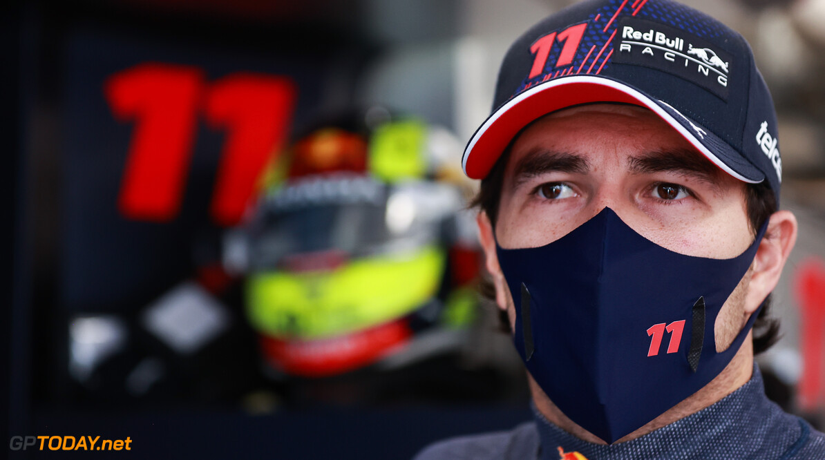 BUDAPEST, HUNGARY - JULY 31: Sergio Perez of Mexico and Red Bull Racing prepares to drive in the garage during final practice ahead of the F1 Grand Prix of Hungary at Hungaroring on July 31, 2021 in Budapest, Hungary. (Photo by Mark Thompson/Getty Images) // Getty Images / Red Bull Content Pool  // SI202107310173 // Usage for editorial use only //  F1 Grand Prix of Hungary - Final Practice     SI202107310173