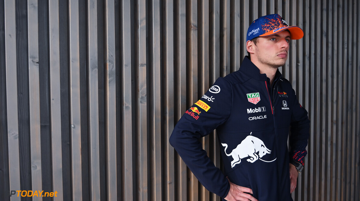ZANDVOORT, NETHERLANDS - SEPTEMBER 02: Max Verstappen of Netherlands and Red Bull Racing looks on in the Paddock during previews ahead of the F1 Grand Prix of The Netherlands at Circuit Zandvoort on September 02, 2021 in Zandvoort, Netherlands. (Photo by Dan Mullan/Getty Images) // Getty Images / Red Bull Content Pool  // SI202109020909 // Usage for editorial use only //  F1 Grand Prix of The Netherlands - Previews     SI202109020909