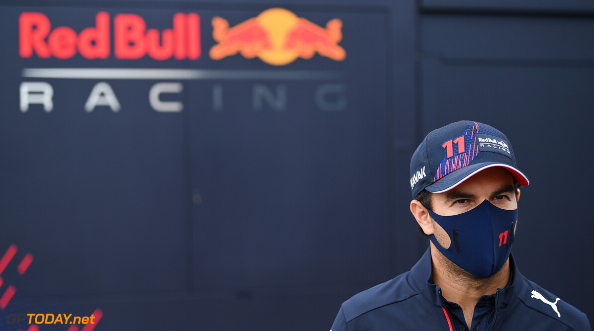 ZANDVOORT, NETHERLANDS - SEPTEMBER 02: Sergio Perez of Mexico and Red Bull Racing looks on in the Paddock during previews ahead of the F1 Grand Prix of The Netherlands at Circuit Zandvoort on September 02, 2021 in Zandvoort, Netherlands. (Photo by Dan Mullan/Getty Images) // Getty Images / Red Bull Content Pool  // SI202109020920 // Usage for editorial use only //  F1 Grand Prix of The Netherlands - Previews     SI202109020920